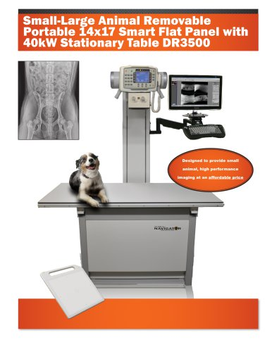DR 3500 14x17 Stationary Table