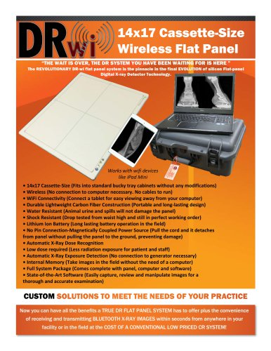 DR-wizard 14x17 Cassette-Size Wireless Flat Panel System