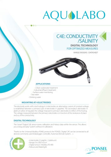 C4E: CONDUCTIVITY /SALINITY