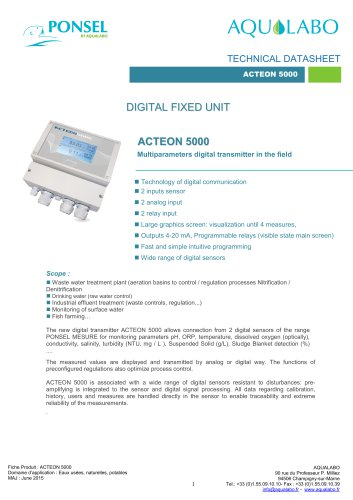 DIGITAL FIXED UNIT ACTEON 5000