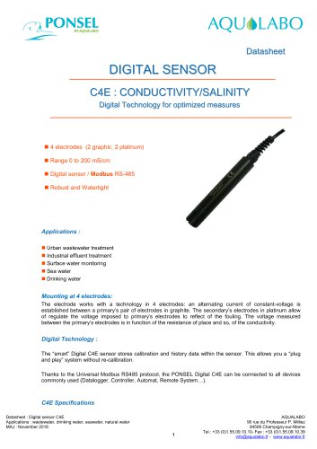 DIGITAL SENSOR C4E : CONDUCTIVITY/SALINITY