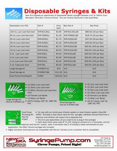 Syringes & Plumbing Supplies
