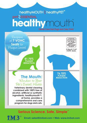 healthymouthTM Preventative Dental Care for Dogs & Cats