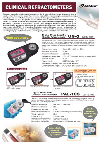 CLINICAL REFRACTOMETERS