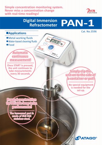 Digital Immersion Type Refractometer PAN-1