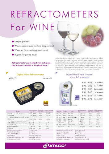 Digital Wine Refractometers