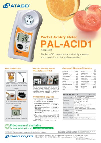 Pocket Acidity Meter PAL-ACID1