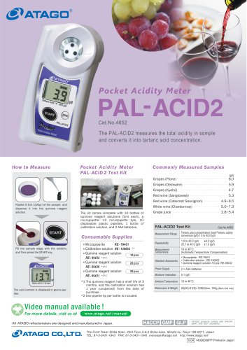 Pocket Acidity Meter PAL-ACID2