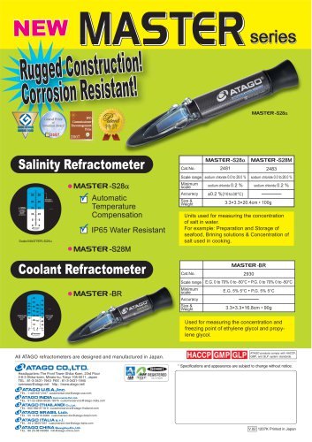 Salinity and Coolant Refractometer