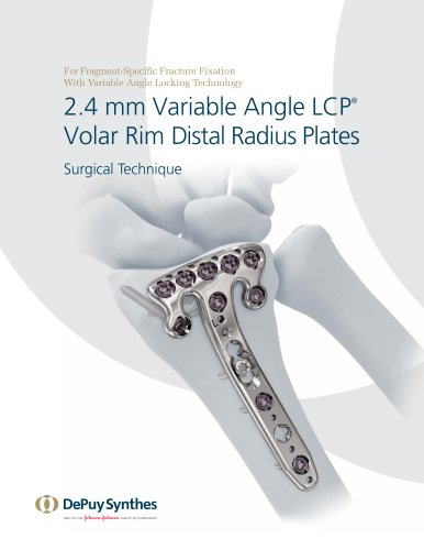 2.4 mm Variable Angle LCP® Volar Rim Distal Radius Plates