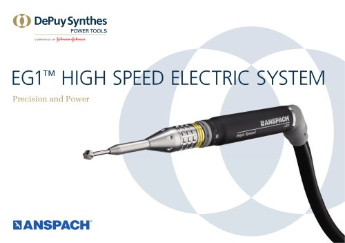 EG1 ™  HIGH SPEED ELECTRIC SYSTEM
