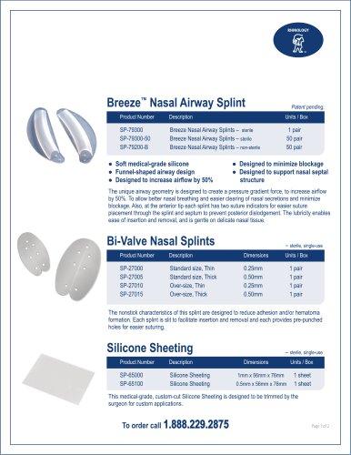 Bi-Valve Nasal Splints