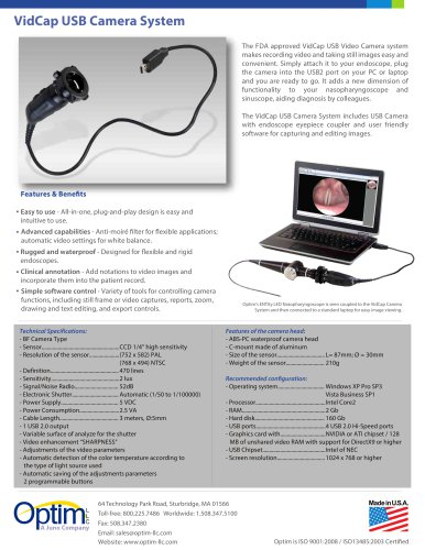 VidCap USB Camera System