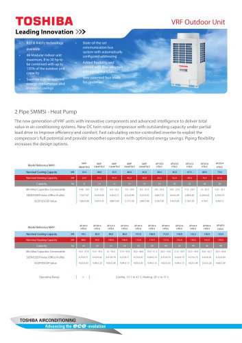 SMMSi - 2 Pipe Heat Pump Outdoor