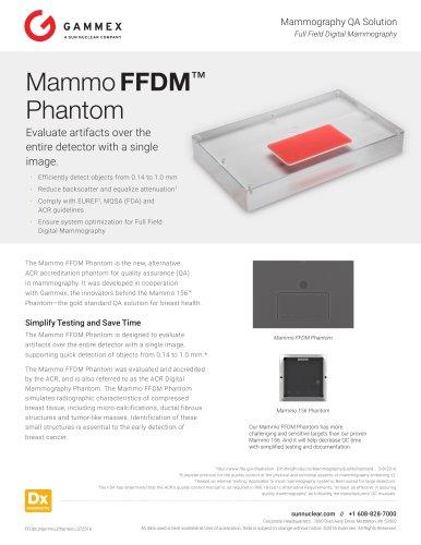 Mammo FFDM ™ Phantom