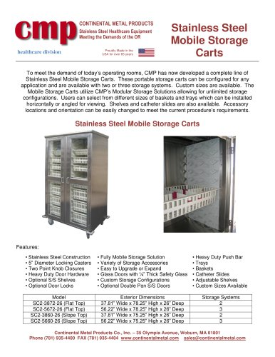 Stainless Steel Mobile Storage Carts
