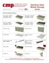 Stainless Steel Mobile Storage Carts - 2