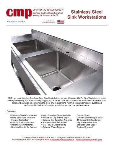 Stainless Steel  Sink Workstations