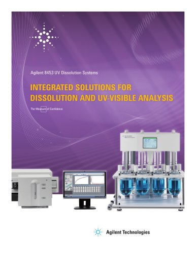 8453 UV Dissolution System Brochure