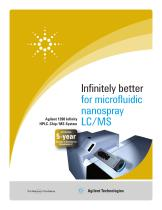 Agilent 1260 Infinity HPLC-Chip/MS System – Infinitely better for microfluidic nanospray LC/MS - 1