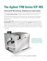 Agilent 7700 Series ICP-MS brochure - 2