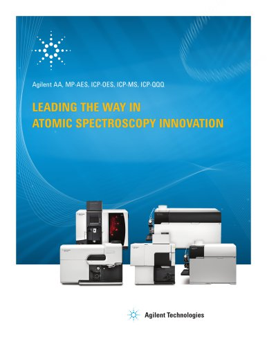 Agilent AA, MP-AES, ICP-OES, ICP-MS, ICP-QQQ