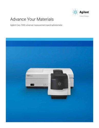 Agilent Cary 7000 universal measurement spectrophotometer