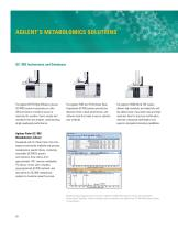 AGILENT SOLUTIONS FOR METABOLOMICS - 10