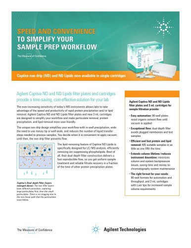 Captiva non-drip (ND) and ND Lipids now available in single cartridges