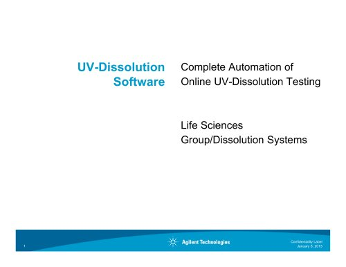 Cary 60 UV Dissolution Testing