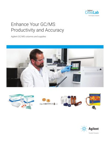 Enhance Your GC/MS Productivity and Accuracy