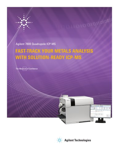 FAST-TRACK YOUR METALS ANALYSIS WITH SOLUTION-READY ICP-MS
