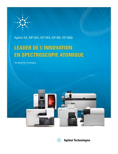 LEADER DE L'INNOVATION EN SPECTROSCOPIE ATOMIQUE