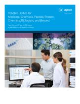 Reliable LC/MS for Medicinal Chemists, Peptide/Protein Chemists, Biologists, and Beyond - 1