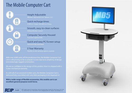 MD5 Mobile Computer Cart