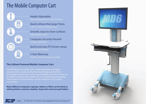 MD6 Mobile Computer Cart