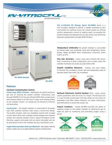 In-VitroCell NU-8600 CO2 Incubator