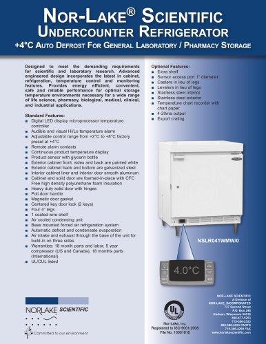 +4°C Auto Defrost For General Laboratory / Pharmacy Storage