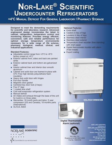 +4°C Manu al Defrost For General Laboratory / Pharmacy Storage