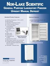 General Purpose Laboratory Freezer Upright Manual Defrost Lf 161 WWW/OM