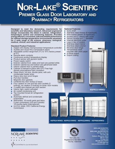 Premier Glass Door Laboratory and Pharmacy Refrigerators