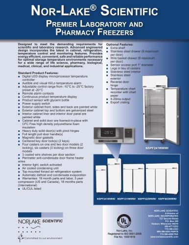 Premier Laboratory and Pharmacy Freezers