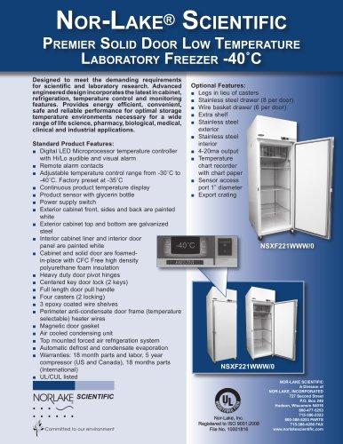Premier Solid Door Low Temperature Laboratory Freezer -40?C