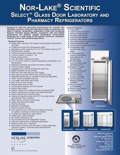 Select? Glass Door Laboratory and Pharmacy Refrigerators