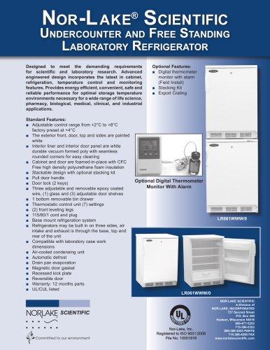Undercounter and Free Standing Laboratory Refrigerator