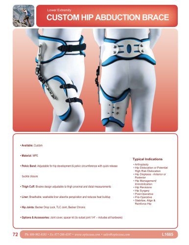 Custom Hip Abduction Orthosis