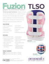 The New Fuzion Spinal TLSO Orthosis