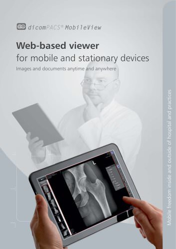 dicomPACS® Mobileview Web-based viewer for mobile and stationary devices