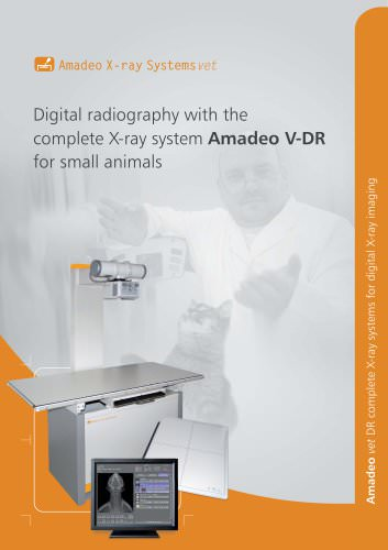 Digital radiography with the complete X-ray system Amadeo V-DR for small animals