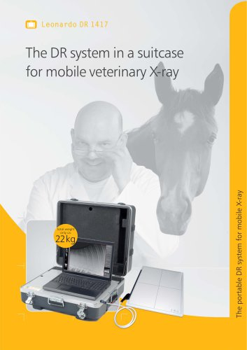 Leonardo DR 1417 The DR system in a suitcase for mobile veterinary X-ray